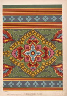 Design for frieze, but may be used as rail of rich dado. If used as a frieze, the lines should be double below as they a... ([1876])