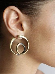 Modernist Jewelry by Arthur Smith, born 1916, Cuba *spiral oxidized brass earrings?
