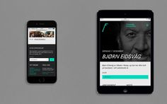 Visual identity and responsive website for concert hall Fosnavaag Cultural Centre designed by Heydays