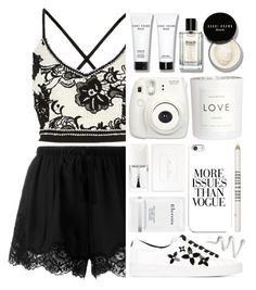 """""""When you miss me close your eyes"""" by perfectharry ❤ liked on Polyvore featuring Twin-Set, MICHAEL Michael Kors, Bobbi Brown Cosmetics, H&M, Fujifilm, Christian Dior, Elemis and Lord & Berry"""