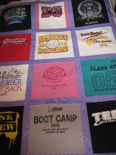 Wedding Gift Ideas Rugby : Order your Custom TShirt Quilts by OceanPalmQuilts on Etsy @ http ...