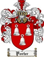 Porter Coat of Arms / Porter Family Crest gifts at www.4crests.com
