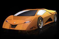 wood Lamborghini