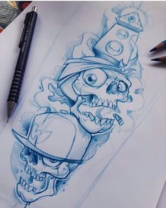 Graffiti Art, Wie Zeichnet Man Graffiti, Graffiti Tattoo, Graffiti Cartoons, Graffiti Characters, Graffiti Drawing, Graffiti Lettering, Skull Tattoo Design, Tattoo Design Drawings