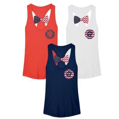 Southern Girl Prep Patriotic Bow Tank shop at www.southerngirlprep.com | preppy | cotton | style |