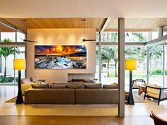 Elegant Design Your Own Room With Wood Ceiling Unit And Brown Fabric Sofa Furniture For Living Room Decoration Ideas In Modern Touch
