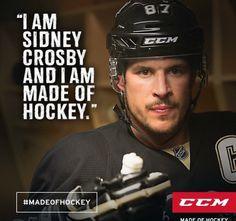 CCM Hockey #MadeofHockey #SidneyCrosby