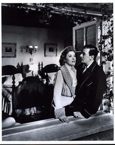 "Greer Garson with Walter Pidgeon in ""Mrs. Miniver"""
