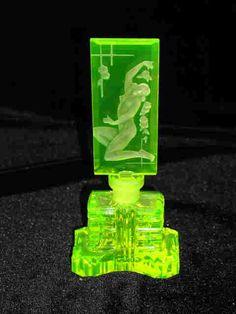 Vaseline Glass /Parfume Bottle