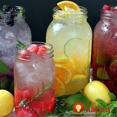 "Naturally Flavored Water -- An easy formula for making an endless variety of fruit and herb infused waters. Say goodbye to soda, juice, and bottled water with these refreshing, healthy ""spa water"" flavors! by Jaime Hudson Refreshing Drinks, Summer Drinks, Fun Drinks, Healthy Drinks, Healthy Snacks, Healthy Recipes, Beverages, Simple Recipes, Summertime Drinks"