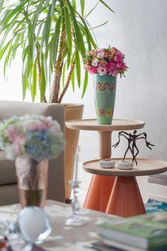 Decoração de: Detalhes; vaso patchwork de estampas; Casa de Valentina