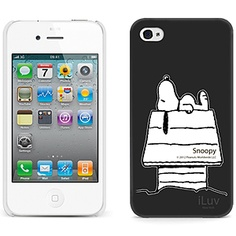 #Snoopy Hard Shell Case for #iPhone 4 & iPhone 4S, Dog House Black iCP751SBLK $34.99 From #DayDeal