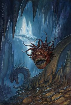 Beholder by Todd Lockwood (For Dungeon Magazine. There is no monster more identified with D&D--apart from dragons, of course-than the Beholder. Every player will have horror stories about their every encounter with one)