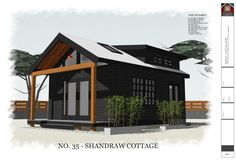 This is the 320 square foot Shandraw Cottage. It's a set of downloadable 16′ x 20′ (free) house plans from The Small House Catalog. Please enjoy, learn more, and re-share below. T…