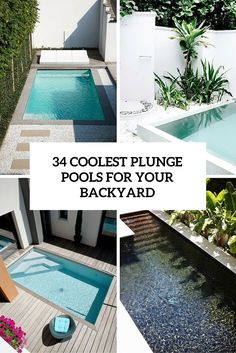 34 Coolest Plunge Pool Ideas For Your Backyard - Gardenoholic Small Backyard Patio, Backyard Patio Designs, Backyard Pergola, Pergola Kits, Pergola Ideas, Backyard Ideas, Pools For Small Yards, Small Swimming Pools, Dipping Pool