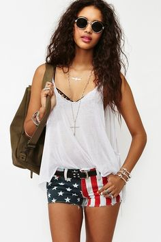 America Cutoff Shorts...need for fourth of july