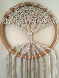Árbol de la vida-Macrame colgante