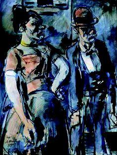 George Roualt, The Injured Clown, 1932.