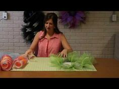 DIY video on how to make the deco mesh flower wreath by A Noble Touch. Like us on Facebook and Shop us on Etsy!