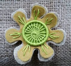 Dorset Button Brooch by GrannyChippy on Etsy