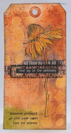 Country View Crafts' Projects: Distress Glaze Resist by Jennie Atkinson aka Live the Dream; Oct 2016 #timholtz #rangerink #sizzix #stampersanonymous #jennieatkinson #livethedream