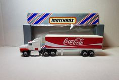 "diecast matchbox customized convoy ford aeromax box trailer truck "" COCA COLA "" 