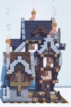 Minecraft Farm, Cute Minecraft Houses, Minecraft Funny, Minecraft Plans, Minecraft House Designs, Minecraft Construction, Minecraft Tutorial, Minecraft Blueprints, Minecraft Creations