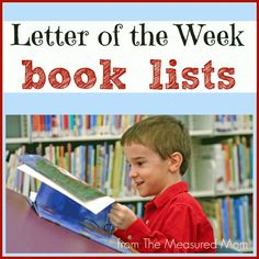Book Lists:  She creates preschool book lists for each letter of the alphabet!!