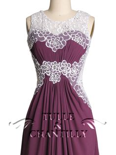 Very interesting dress and looks flattering? Maybe too busy? Hopefully the bodice has some structure because you can't wear a bra with it. Loving the aubergine color option if it's deep enough.