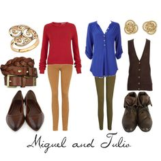 Miguel and Tulio, created by character-inspired-style on Polyvore