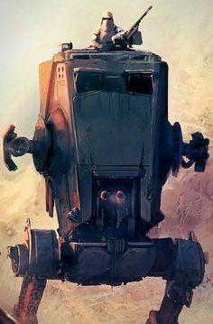El AT-ST (All Terrain Scout Transport) es una máquina de combate bípeda gigante controlada por humanos del mundo ficticio de Star Wars. El AT-ST fue diseñado por el Imperio Galáctico reemplazando el modelo anterior de la República. En la cabeza del bípedo se aloja la cabina, donde un dos tripulantes lo manejan. Las principales batallas en las que fueron empleados fueron la de Endor y la de Hoth.