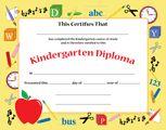 Recognition Certificate - Kindergarten Diploma