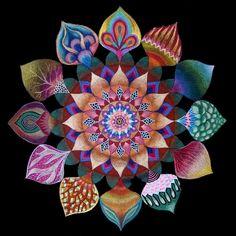 Mandala of Unity, Handmade Fine Art Signed mandala Print, Home decor, Home accesories, Judaica Painting, Flower Art Mandala, Spring Art Sale op Etsy, 64,12€