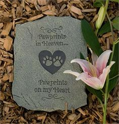 Pawprints in Heaven Pet Memorial Stone. #PetMemorial