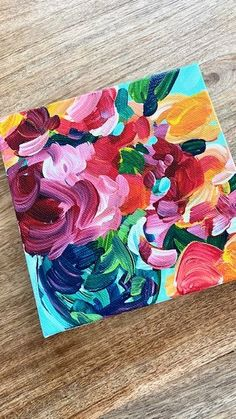 Easy Flower Painting, Acrylic Painting Flowers, Simple Acrylic Paintings, Acrylic Painting Tutorials, Abstract Flowers, Acrylic Painting Canvas, Flower Paintings, Paint Flowers, Knife Painting