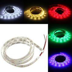1M DC12V 3W 60 SMD 3528 Waterproof Red/Blue/Green/White/Warm White/RGB Flexible LED Strip Light