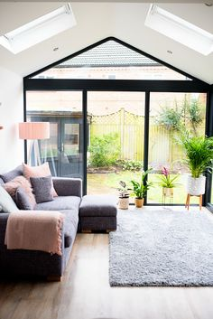 Our Modern Conservatory Extension- Before and After (Home Renovation Project - Mummy Daddy Me - April 13 2019 at Small Conservatory, Conservatory Interiors, Conservatory Extension, Orangery Extension Kitchen, Conservatory Dining Room, Garden Room Extensions, House Extensions, House Extension Design, House Design