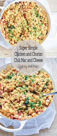 Super Simple Chicken and Chorizo Chili Mac and Cheese is a family ...