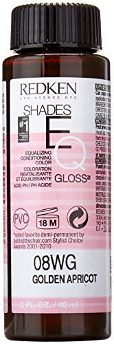 Redken Shades EQ Gloss for Women Hair Color, Golden Apricot, 2 Ounce  //Price: $ & FREE Shipping //     #hair #curles #style #haircare #shampoo #makeup #elixir