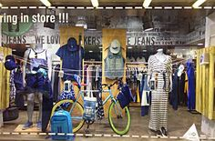 Display window starring our blue leggings at Prime Timers, Ghalandri, Athens