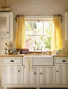 For decorating your kitchen, you will need some modern kitchen curtains that are chic and stylish. Modern yellow kitchen curtain ideas The . Yellow Kitchen Curtains, Modern Kitchen Curtains, Kitchen Window Curtains, Kitchen Window Treatments, Kitchen Valances, Yellow Curtains, Room Window, Sheer Curtains, Bright Curtains