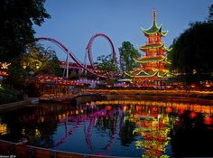 Tivoli Gardens - Copenhagen, Denmark - 26 Underrated Amusement Parks To Visit Before You Die
