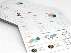 Resume infographic & Advice Infographic Resume Image Description Infographic Resume by DesignGhor on Creative Market Executive Resume Template, Simple Resume Template, Creative Resume Templates, Cv Template, Creative Cv, Creative Design, Business Brochure, Business Card Logo, Infographic Resume