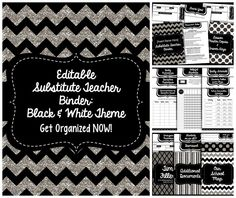 This is an editable substitute teacher binder that will help you prepare for those much needed days off! High School Classroom, Elementary Teacher, Future Classroom, School Teacher, School Fun, School Days, Classroom Ideas, Substitute Teacher Binder, Substitute Folder