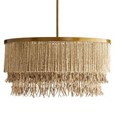 The Bohemian Coconut Bead Chandelier is a natural boho chic chandelier that features a tiered round frame finished in antique brass and strung with hand-carved wood and coconut beads. Shop now for natural boho chic chandeliers. Shabby Chic Chandelier, Beaded Chandelier, Chandeliers, Modern Farmhouse Lighting, Boho Chic, Bohemian, Interior Styling, Furniture Decor, House Accessories