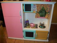 Homemade Kitchen from old tv cabinet