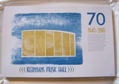 Kleinhans Music Hall pressure print (collaboration with Chris Fritton)