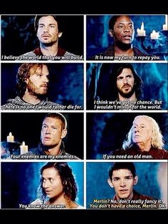 Everyone is all noble and stuff and then there's Merlin XD