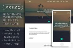PREZO responsive business template by Bootstraptor on @creativemarket