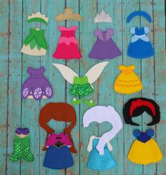 We are in love with these!!! Princess Dresses for Felt Non Paper Dolls by SewSurprisingbyJamie, $5.50